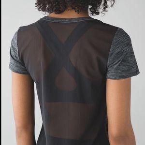 Lululemon shirt mesh back size 8